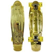 """NKD Shiny Deluxe Skateboard 27"""" - Oro"""